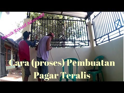 Cara (proses) membuat Pagar Teralis. (part 2)