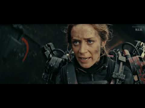 Edge Of Tomorrow (2014) - Beach Battle - Only Action [1080p]