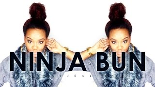 Top Knot / Ninja Bun on Natural Hair | etcblogmag