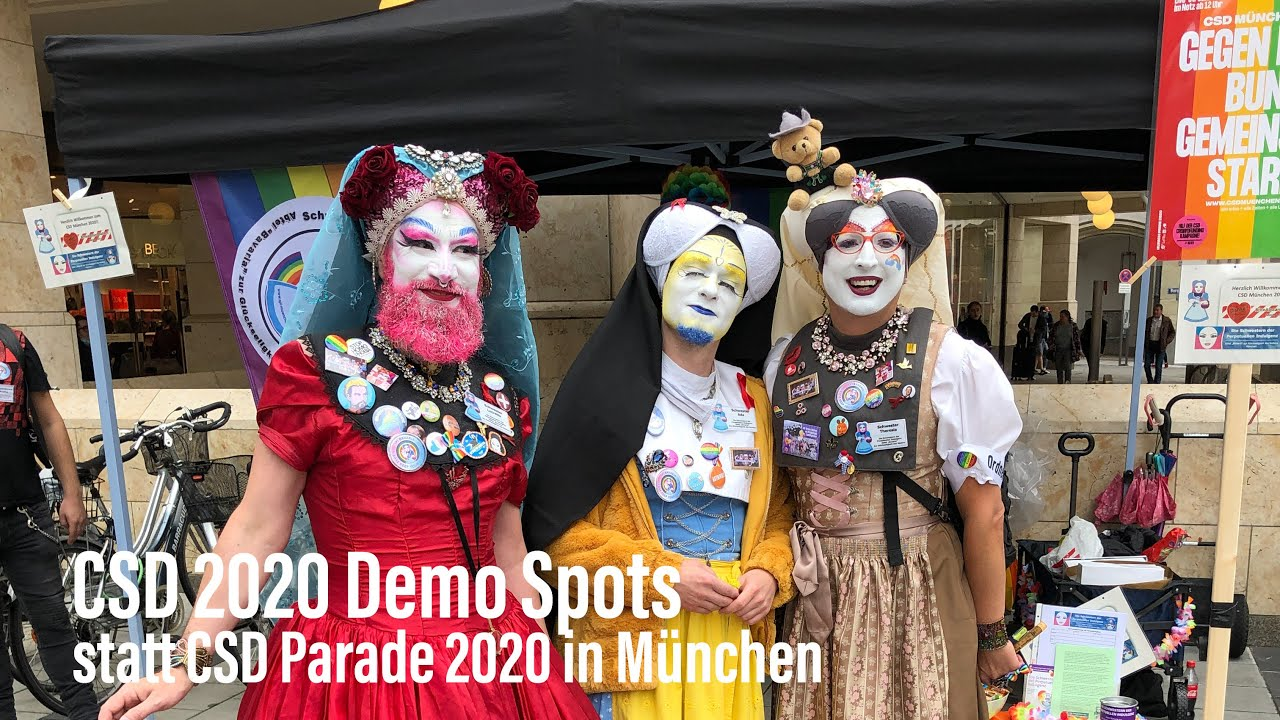 """Dezentrale CSD 2020 Demo Spots"" statt CSD Parade Munich 2020 am 11.07.2020"