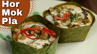 Thai Food Steamed fish in Red Curry Custard (Hor Mok Plaa)❤️️