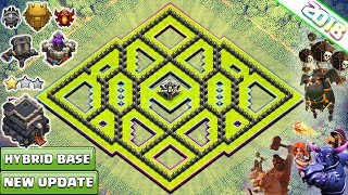 NEW TOWN HALL 9 TROPHY/FARMING BASE 2018 | TH9 HYBRID FARM BASE | TH9 base  2018 - CLASH OF CLANS