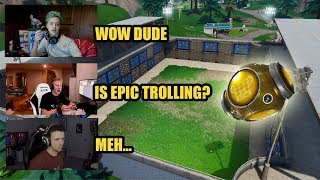 Streamers React To New Spiky Stadium And Use Port-A-Fortress In Fortnite Ninja, Tfue, DrLupo