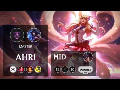 Ahri Mid Vs Akali - KR Master Patch 9.7
