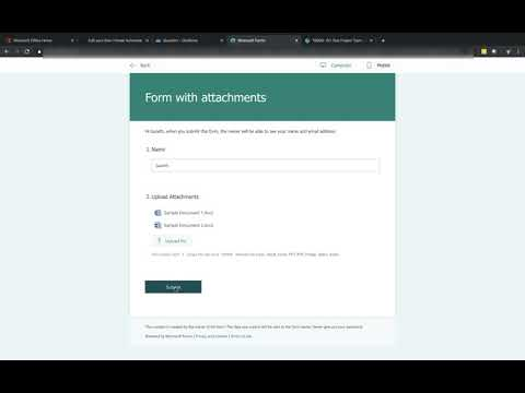 Saving attachments from Microsoft Forms with Flow