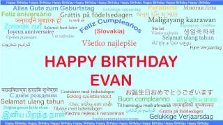 Evan   Languages Idiomas - Happy Birthday