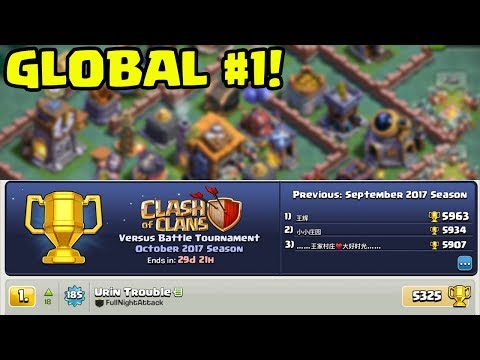 Global TOP PLAYER in Clash of Clans Builder Hall - HOW He Di