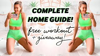 Lose fat, get stronger + fitter at home // Free workout + GIVEAWAY!