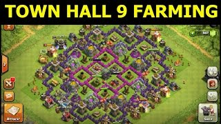 [Clash Of Clans] Town Hall Level 9 Farming Base (Noob Squared)