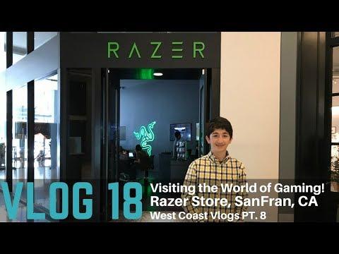 Vlog #18 — Visiting the World of Gaming! (Razer Store, San