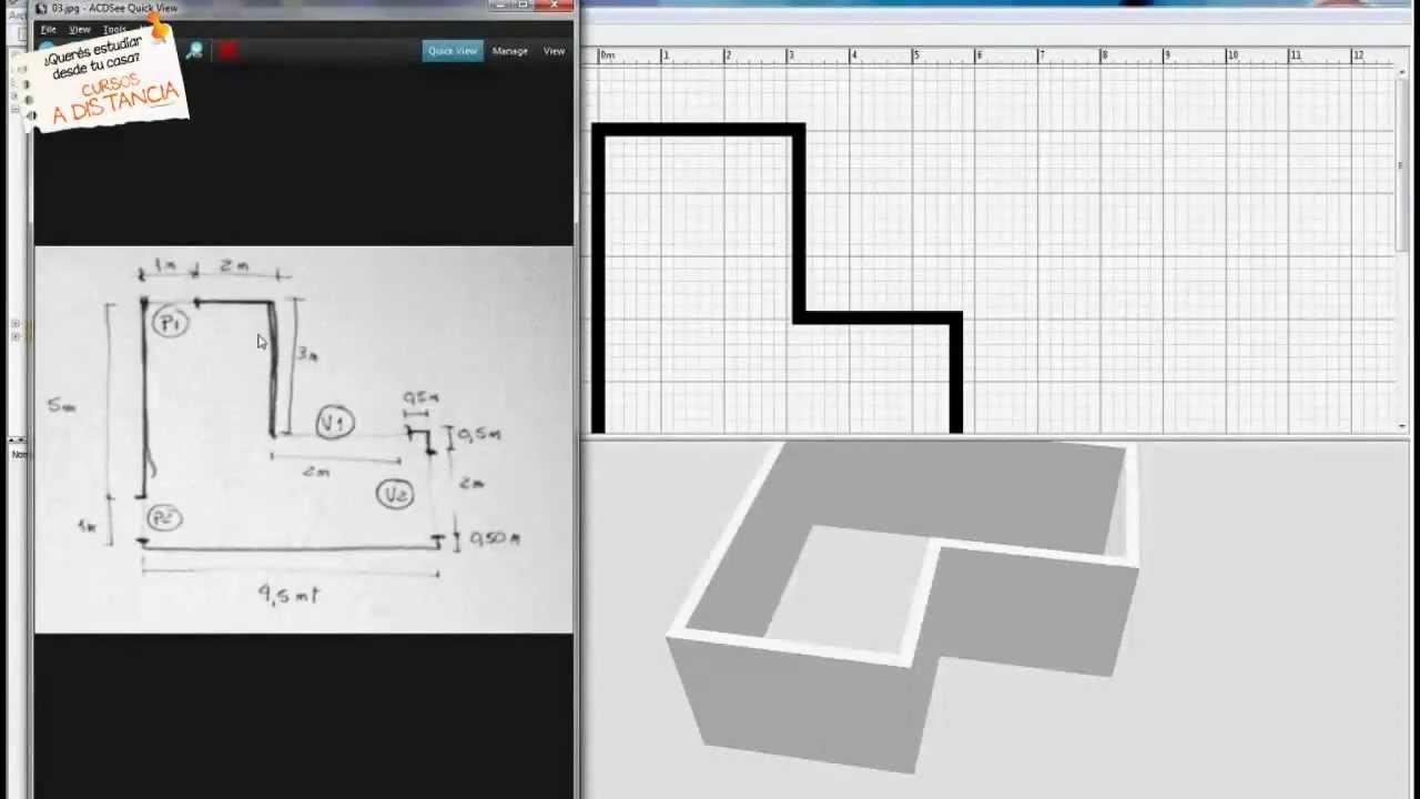 tutorial de sweet home 3d nueva escuela cursos online youtube. Black Bedroom Furniture Sets. Home Design Ideas