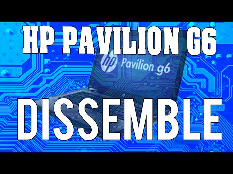 LAPTOP DISASSEMBLE/FAN CLEANING HP Pavilion G6