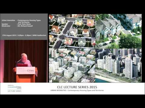 Peter Rowe: Urban Intensities—Contemporary housing types and territories