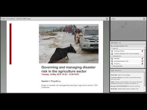 FAO Webinar on resilience #9 – DRM1