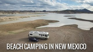 [RV Life & Travel] Beąch Camping in New Mexico || Elephant Butte Lake State Park [Ep115]