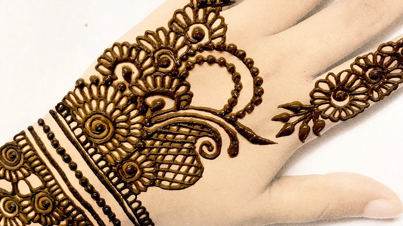 Latest Stylish Arabic Mehndi Design For Hand Easy Mehndi Design Henna Design Youtube