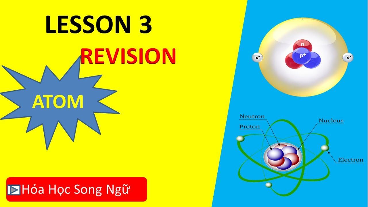 Hóa  lớp 10 Bài 3:Ôn tập Thành phần nguyên tử- Review composition of atoms