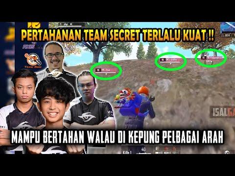 Team Secret Padu Dalam Bertahan Walau Telah Dikepung   Scrim PMPL   PUBG Mobile Malaysia