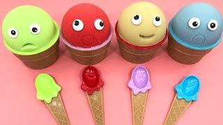 4 Colors Play Doh Ice Cream Cups Paw Patrol Shopkins Surprise Toys Cars Pj Masks Kinder Joy Egg