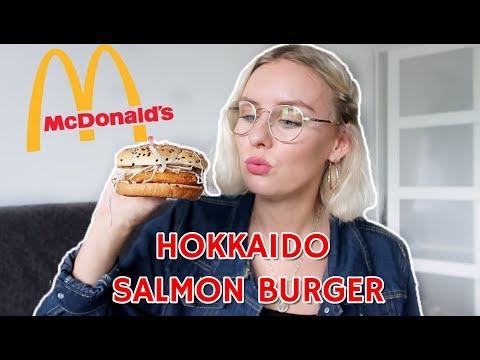 McDoanlds Hokkaido Salmon Burger In Singapore! - 동영상