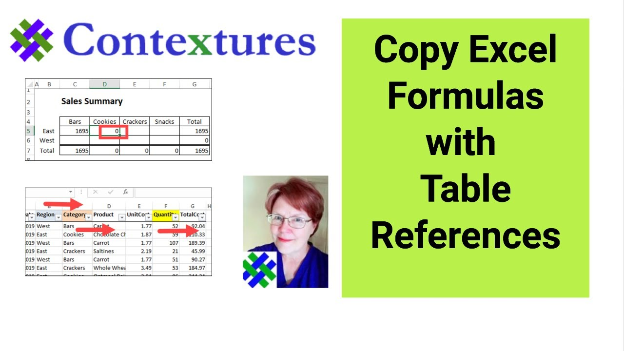 Copy Excel Formulas with Table References