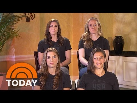 US Women's Soccer Team: It's Our 'Responsibility' 'To Push For Equal Pay' | TODAY