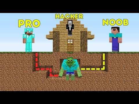 Minecraft NOOB vs PRO vs HACKER - SURVIVAL IN ZOMBIE MAZE in Minecraft battle MAP thumbnail
