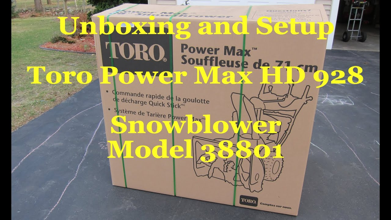 Unboxing and Setup Toro Power Max HD OHXE Home Depot