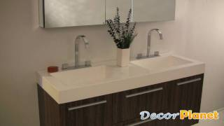 Opulento (walnut) Double Sink Bathroom Vanity - Contemporary Vanities - Decorplanet.com