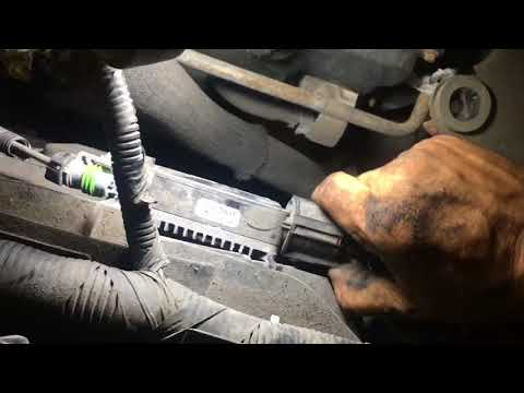 How to replace the alternator on a ford edge
