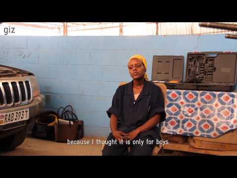 Sylvie Abigayire – a car mechanic in Kigali, Rwanda