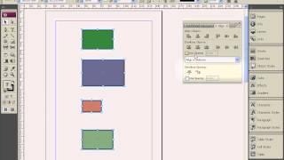 Выравнивание и распределение объектов в Adobe InDesign