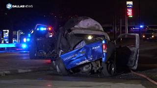 Motorists escape with minor injuries after suspected drunken driver causes fiery crash in Haltom Cit