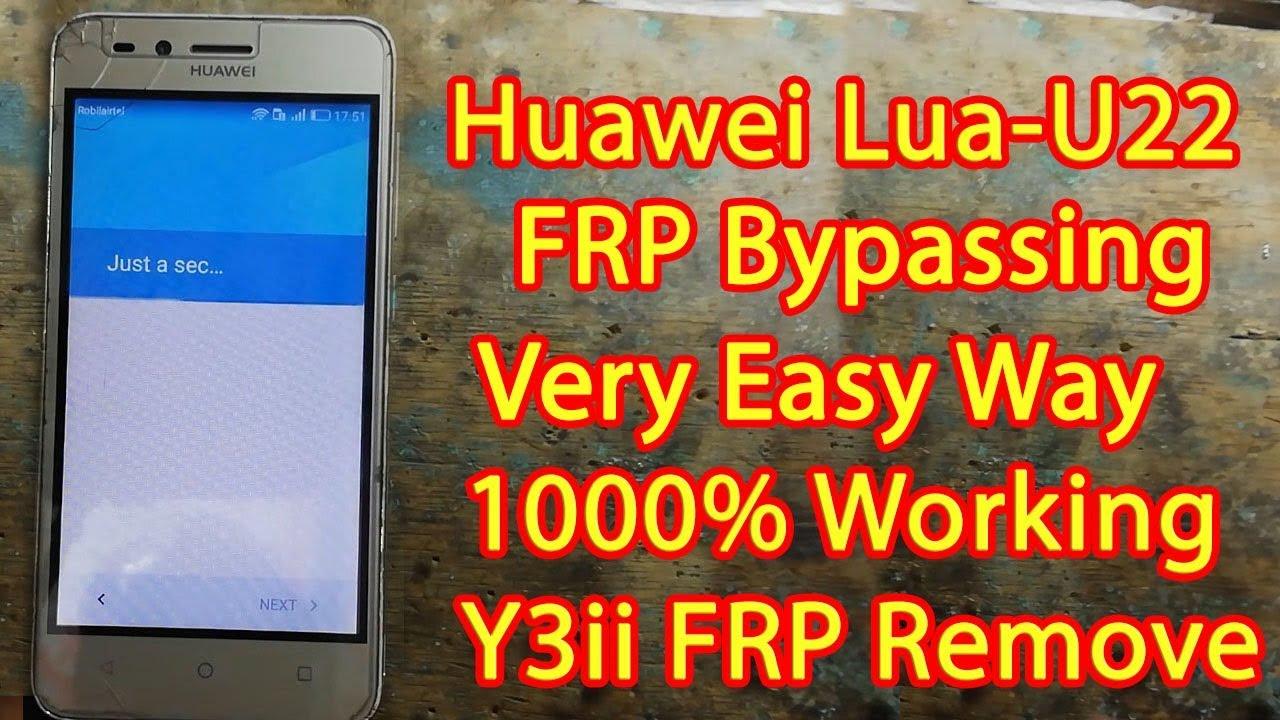 Huawei Lua U22 FRP Remove 1000% Working | Very Easy Way |