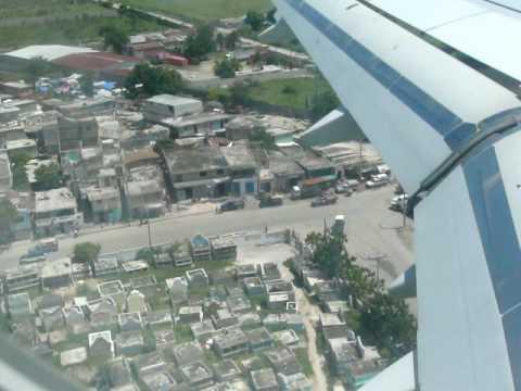 landing in Port au Prince