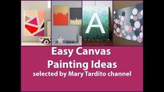 Easy Canvas Painting Ideas   Diy Wall Art Ideas