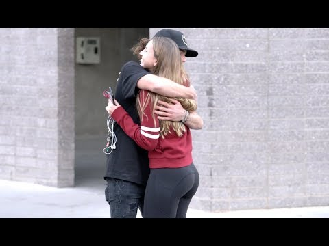 REALLY LONG HUGS PRANK!!