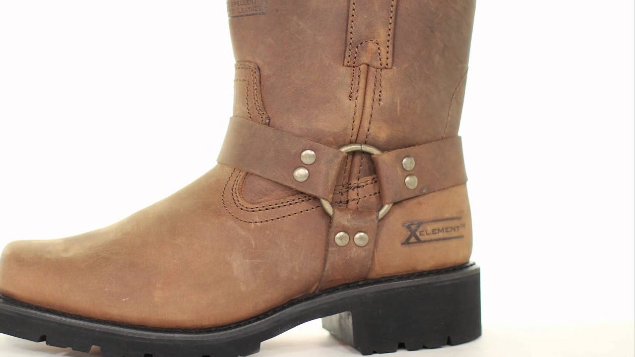 1453 Xelement Men's Short Harness Motorcycle Boot at LeatherUp.com ...