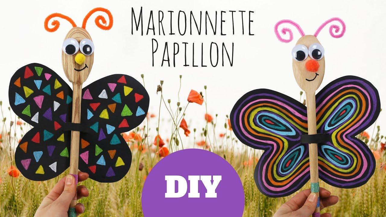 bricolage facile pour enfants marionnette papillon avec. Black Bedroom Furniture Sets. Home Design Ideas