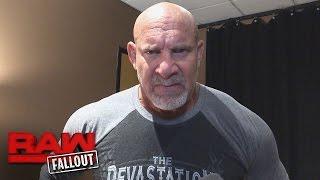 Goldberg ist ein Mann weniger Worte nach seinem WWE-Comeback: Raw Fallout, 17. Oktober 2016