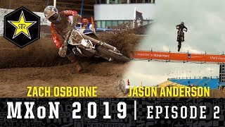 Osborne and Anderson in Action in Assen | MXoN 2019...