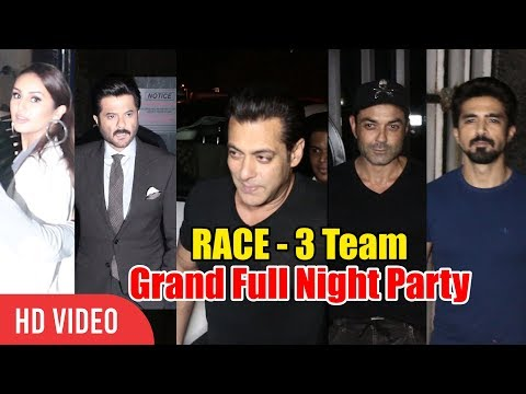 Race 3 Team | FULL VIDEO | Salman khan & Team GRAND Party At Mukesh Chhabra's Birthday