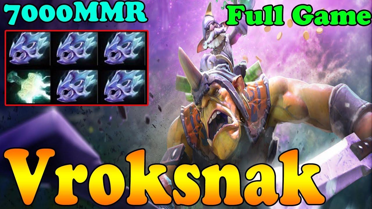 dota 2 vroksnak 7000 mmr plays alchemist full game ranked