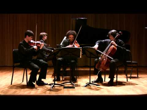 Brahms Piano Quartet in c minor op. 60, II. Scherzo, Allegro - Colburn Piano Quartet