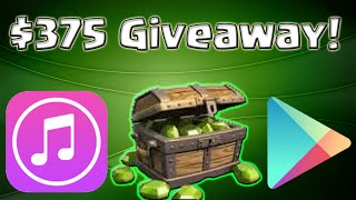 HUGE $375 iTunes and Google Play Giveaway!