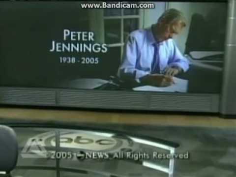 ABC World News Tonight - Peter Jennings Death - 2005/8/8 close