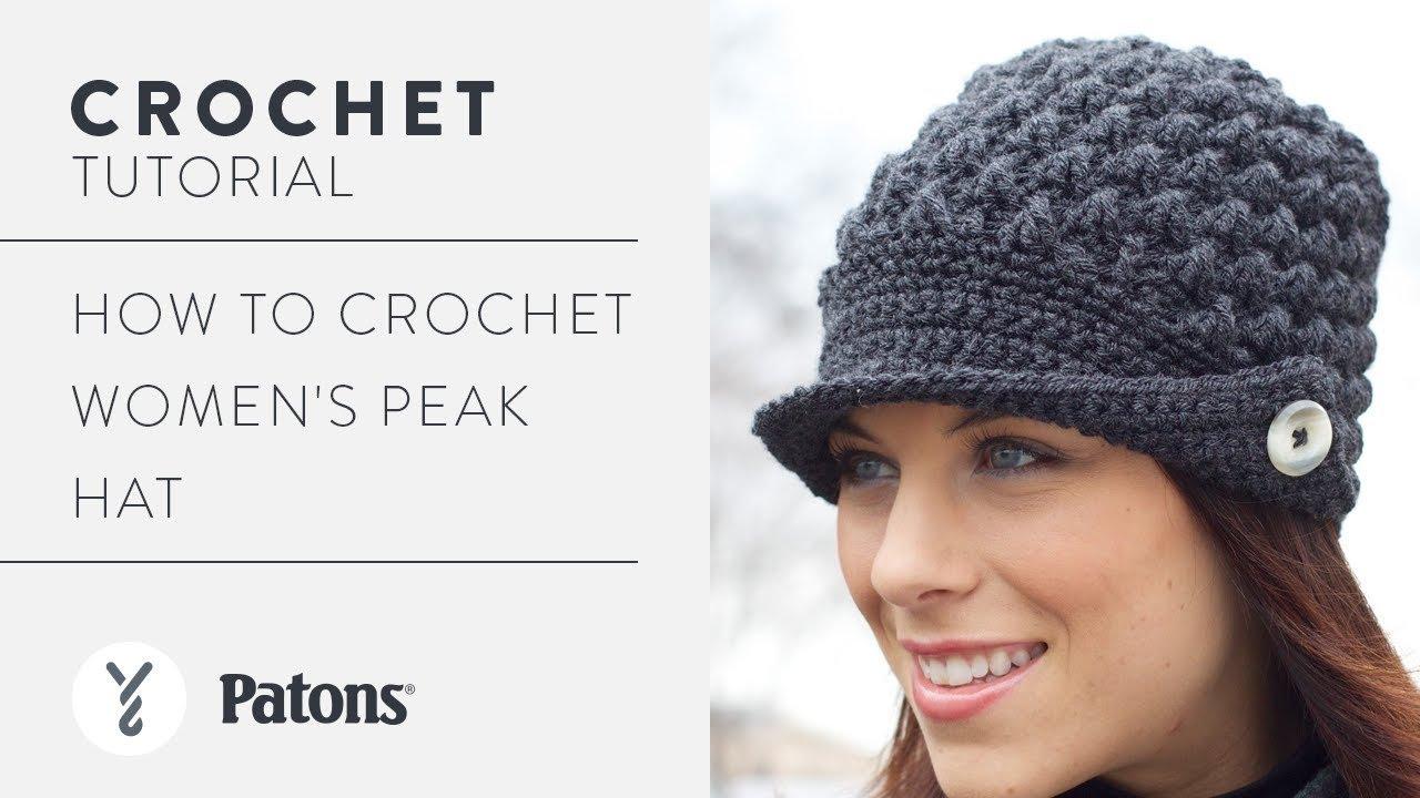 c00adf7a Crochet Women's Peak Hat