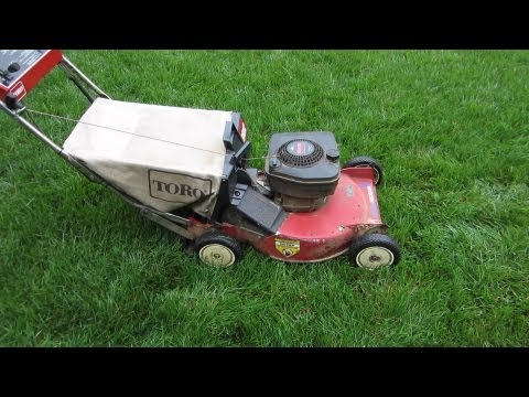 "Toro 22"" Recycler Lawn Mower Model 20666 - Free Craigslist Find & Cold Start! - May 1,2013"