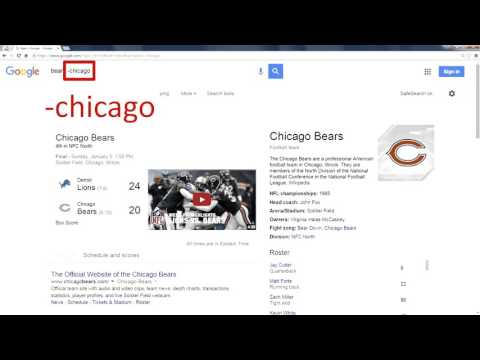 Google Search - Minus Sign