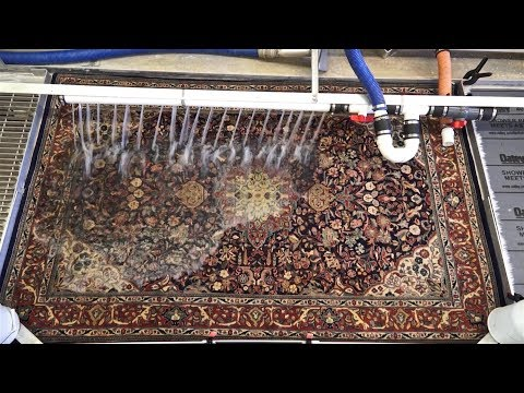 Cleaning oriental rug the right way